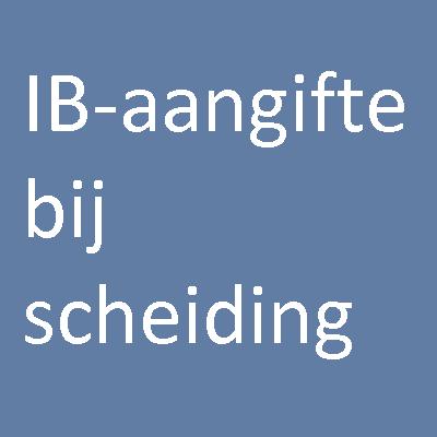 IB-aangifte bij scheiding