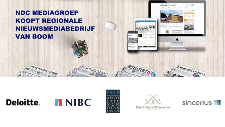 Benthem Gratama begeleidt deal Boom Uitgevers en NDC Media