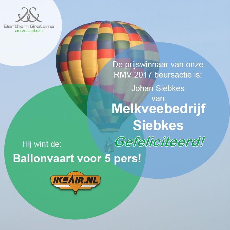Winnaar bekend! | Benthem Gratama ballonvaart-beursactie | RMV 2017